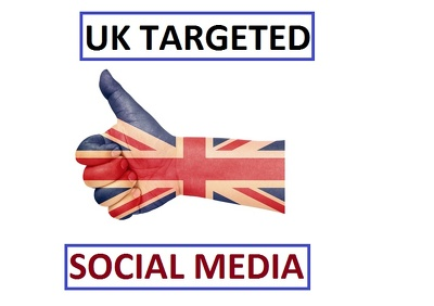 Provide you 100 UK based social media Fans to your link