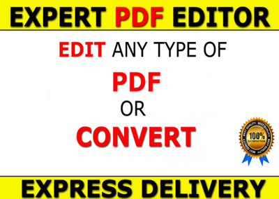 Edit,convert PDF to Word,Excel,image Professionally