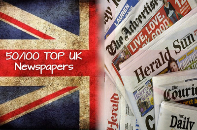 Send your press release to top 50 or 100 UK newspapers