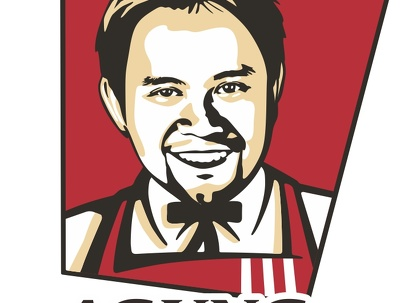 Draw you in KFC style caricature pop arts