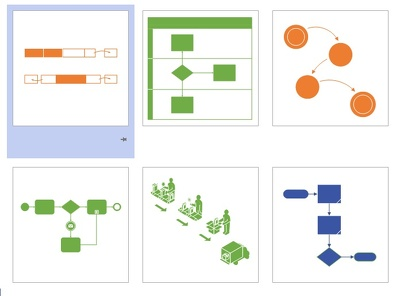 Create flowcharts and diagrams using Visio