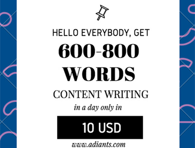Write 600-800 words 100% Unique SEO Friendly content for Blog and Site