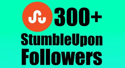 Provide 300+ Real StumbleUpon followers to increase Social Media SEO