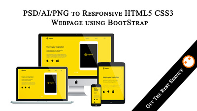 Convert your PSD/AI/PNG to Responsive HTML5 CSS3 Webpage using BootStrap