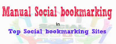 Get you manual bookmarking links from top 24 Social bookmarking sites