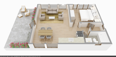 3D Floorplan rendering from your 2D plan or hand sketch