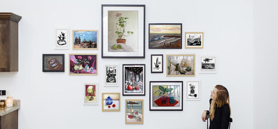 Curate a gallery wall design for your paintings/photographs/prints