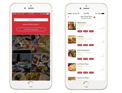 Develop Restaurant Table Booking App (Android)