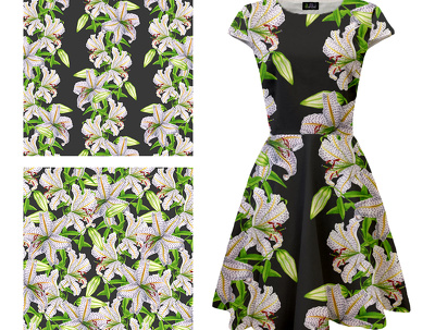 Create a seamless repeat pattern for fashion or interiors
