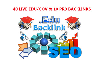 Provide 40 Edu/Gov & 10 Pr9 backlinks -2017 Update