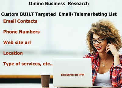 Research 500+ Business Contacts ( Adress, Email, Phone Number) in your country/Niche