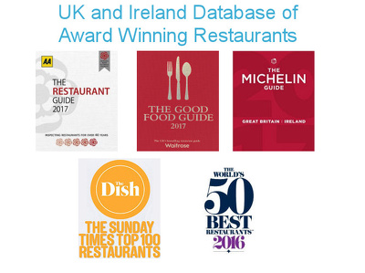 Provide a manually verifed database of over 2,000 award winning restaurants in the UK