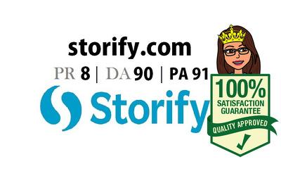 Guest Post in storify PR 8 DA 90 PA 91