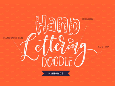 I will make a unique hand lettering doodle logo
