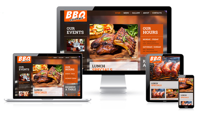 Create 5 pages cafe, restaurant, takeaway, delivery shop website for