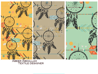 Create a vector design with a seamless pattern and two colourways.