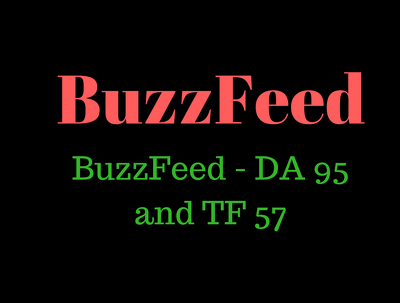Write and publish an article on BuzzFeed - DA 95 and TF 57