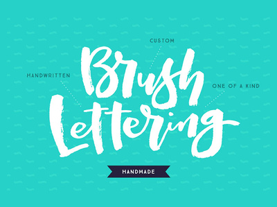 I will create a one of a kind HANDMADE Brush Lettering Logo for you