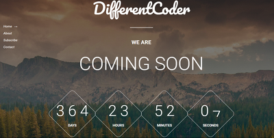 Awesome responsive coming soon,Launching soon, Landing page, Under Construction page.