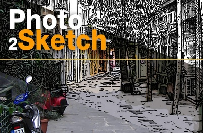 Make a hand-inked sketch version of any photo