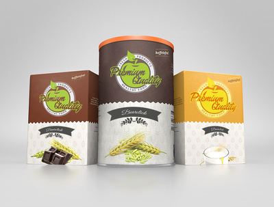 Design your product label or packaging Box with up to 4 variations