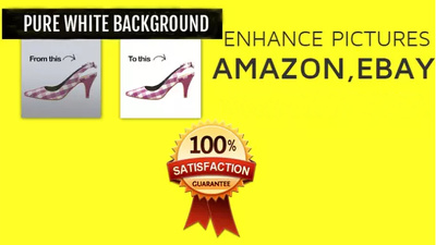 Remove background from 25 images for AMAZON Ebay Online Store