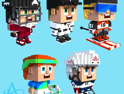 Create original voxel objects for games