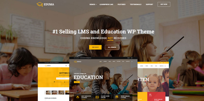 Design and Develop E-Learning website with #1 Official WordPress LMS Theme (EDUMA)