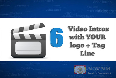 Create 6 BRAND New Video Intro Animations with your brand