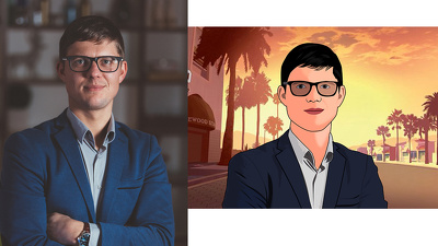 Draw your portrait like a GTA character