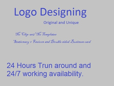 Design your Logo+ stationary + favicon in