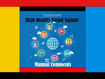 Social Signals with manual comments for your website social web SEO & traffic