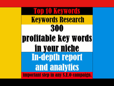 Keywords Research 300 profitable keywords for your niche website SEO traffic