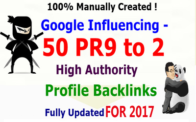 Provide Google Influencing Total 431+ Backlinks