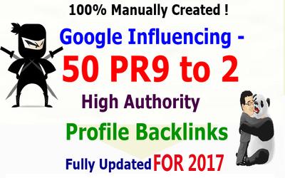 Provide Google Influencing Total 431+ Backlinks