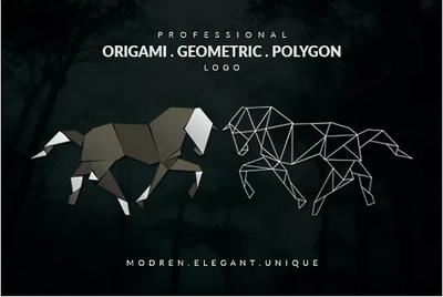 Create you an Incredible Origami or Geometric style Logo