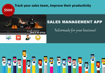 Sales Management App to track your sales team, with field order taking facility