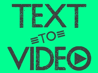 Convert your written content into a text style video