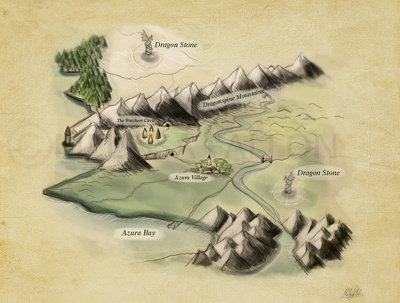 Create a quirky, bespoke, hand drawn map with personalised elements!