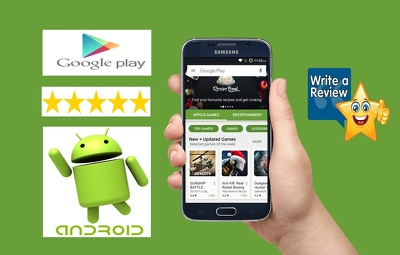 Give 10 android app review with 5 star rating to your Apps on Google play