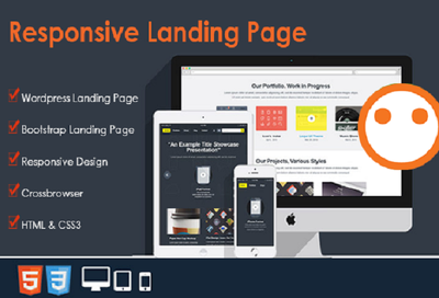 Design wordpress responsive landing page or one page website in 15 hours