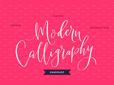 I will make a Unique HANDMADE Modern Calligraphy Logo for you