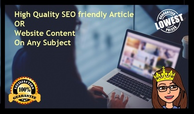 Write a 600+ words high quality SEO article or Website content