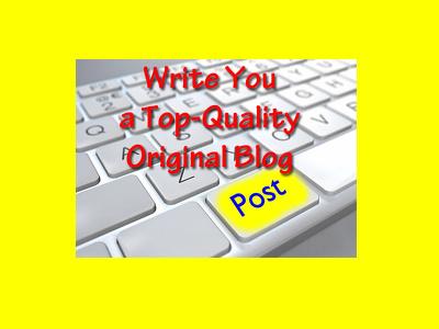 Write a 500 Word Original Top Quality Blog with SEO keywords