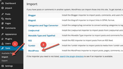Import export your WordPress XML  and CSV file
