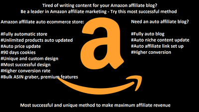 Create an amazon affiliate auto ecommerce store with cart