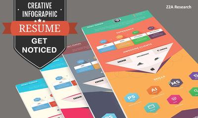 Execute your boring CV into an interesting infographic / infographics CV