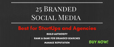 25 Branded Social Media Accounts/ Web 2.0s for your Business or Startup