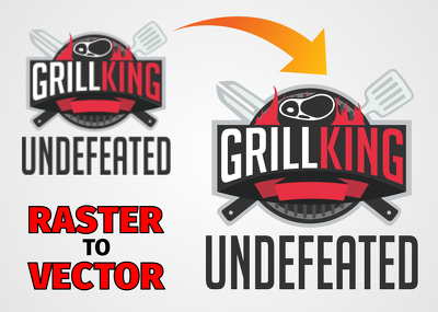 LOGO vectorize, clean up, redraw or redesign