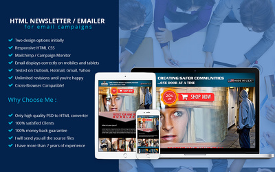 Design and code email newsletter or Email template